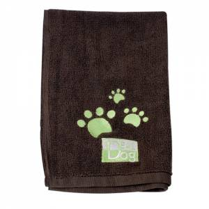 Lot de 2 serviettes Microfibre Idealdog marron