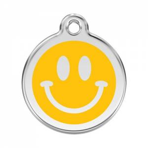 "Médaille Red Dingo jaune ""smiley"""