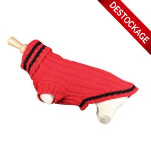 Pull Fantaisie Tennis Rouge