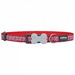 "Collier Red Dingo Fantaisie rouge ""Union Jack"""