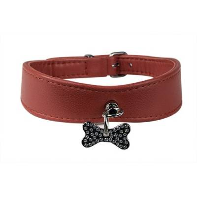 Collier Os strass rouge
