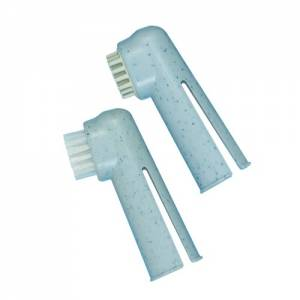 Lot de 2 brosses à dents-doigtiers
