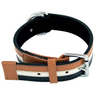 """Collier cuir """"Brave"""" Bobby camel"""