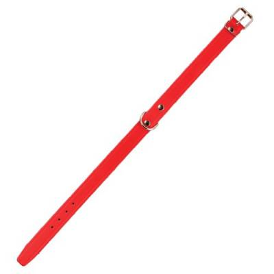 Collier Cuir Amazone Rouge