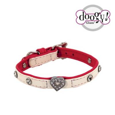 "Collier Doogy Pretty rouge ""coeur"""