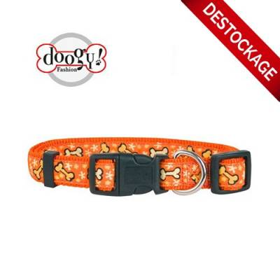 Collier nylon os orange Doogy Gamme Balade