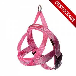 Harnais Ezydog Quick Fit rose