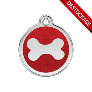 """Médaille Red Dingo rouge """"os"""""""