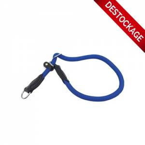Collier-lasso corde Run Around bleu